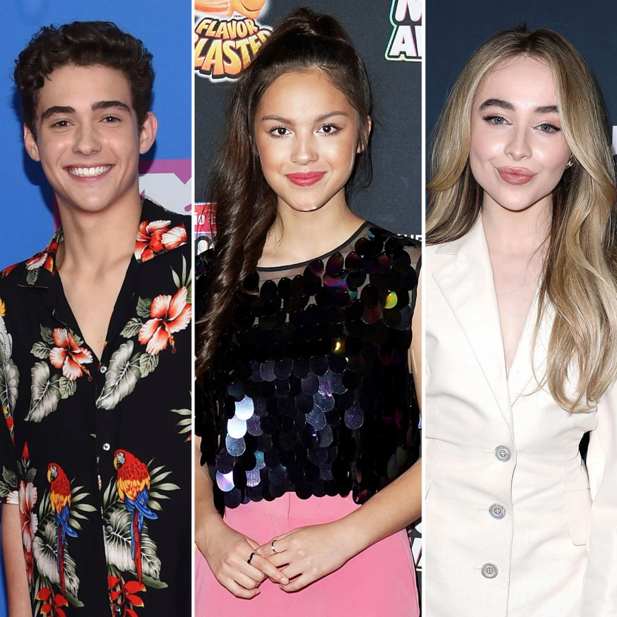 The love triangle everyone's talking about1. Joshua Bassett (left), Olivia Rodrigo (middle), and Sabrina Carpenter (right.) Shutterstock
